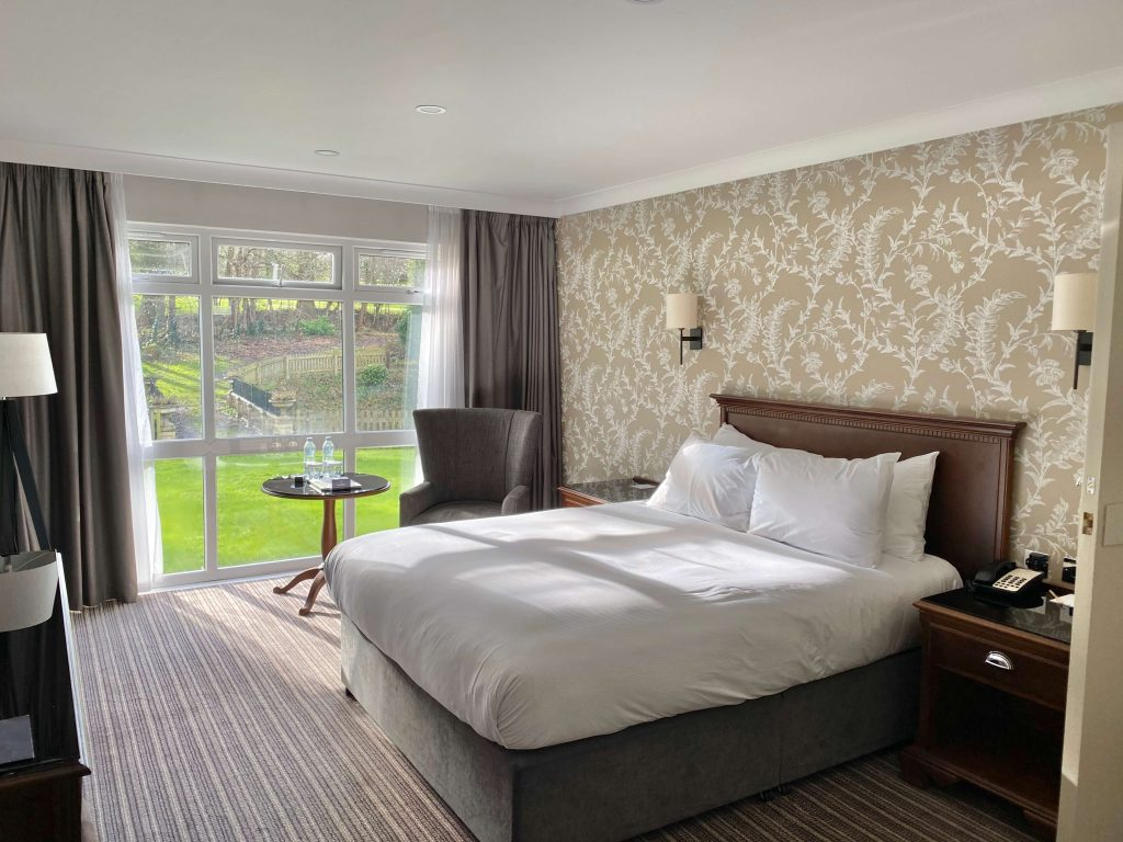 A dog friendly room at the Double Tree Cheltenham