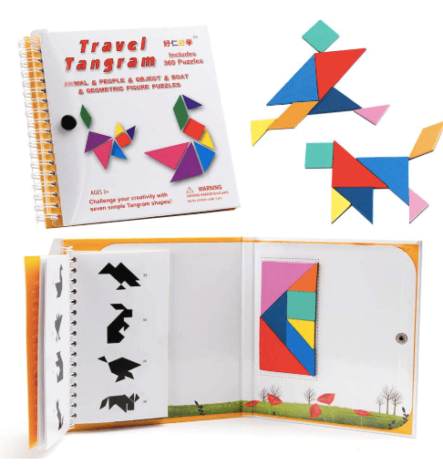Travel Tangrams are an ideal magnetic travel game.