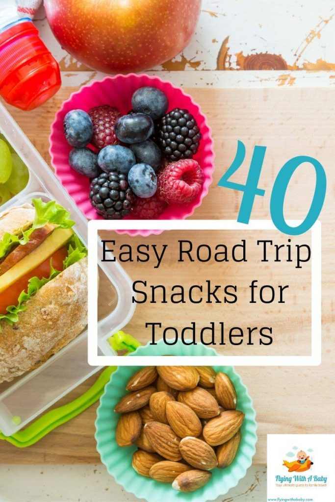 40 easy road trip snacks for toddlers pin