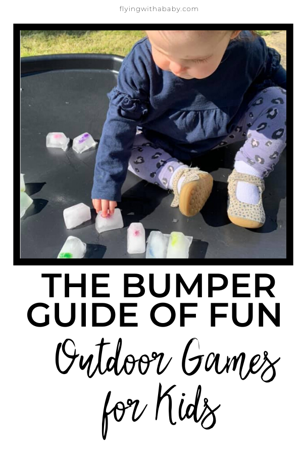 A  pinterest pin resource full of fun outdoor games for kids. Whether you have an only child, a small outdoor space or more, there are lots of fun ideas to keep them busy.