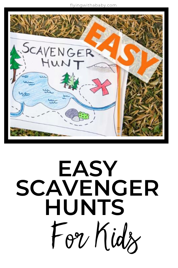 Easy Scavenger Hunts for Kids pin