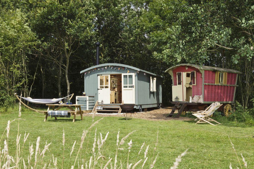 Gypsy's Rest and Shepherds Hut - copyright Secret Meadows