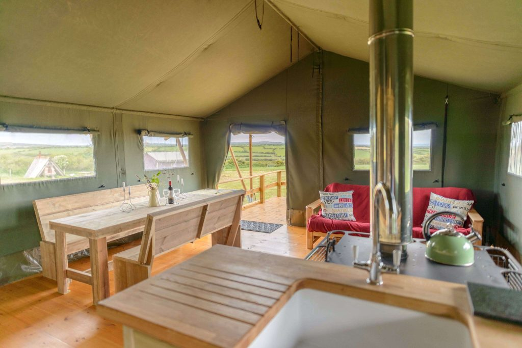 Lanyon Safari Tent at Boswarthen Farm. Copyright Boswarthen Farm