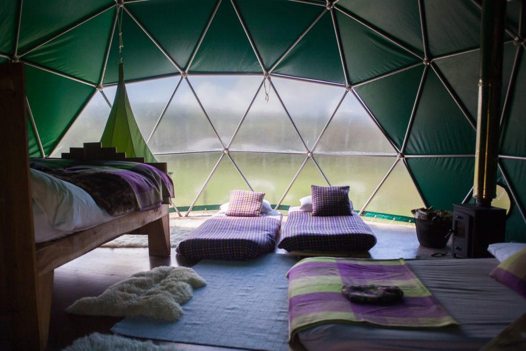 Glamping Inside the Beech Dome - Copyright Cosy Under Campus