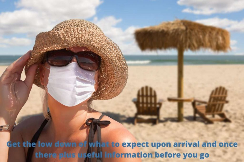 face mask rules on holiday at the beach