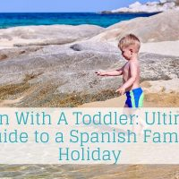 Spain with a toddler on the beach