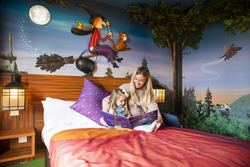 Stay in the Room on the Broom themed room at Chessington World of Adventures. Copyright Chessington World Of Adventures