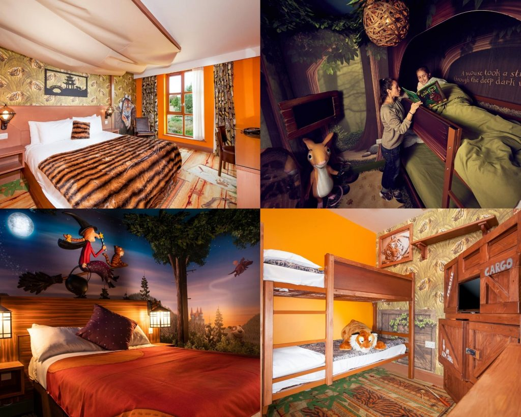 Tiger, Gruffalo and Room on a Broom Themed Rooms. Copyright Chessington World Of Adventures