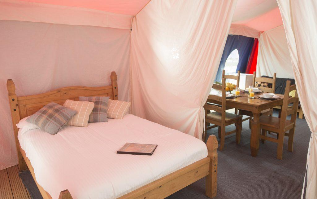 Crealy Theme Park Medieval tent interior