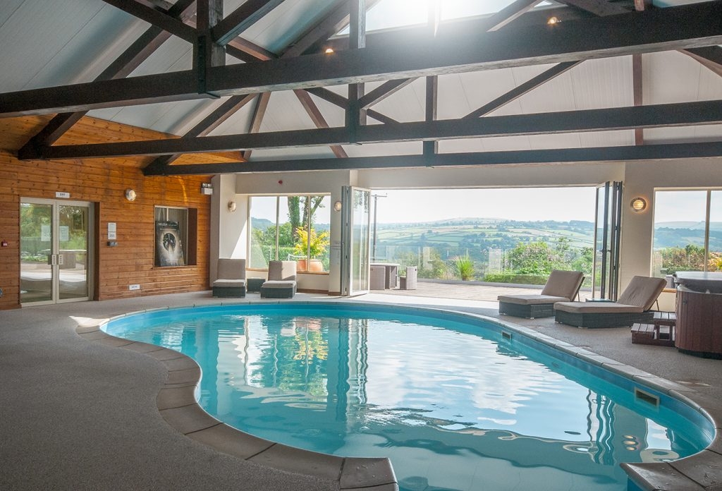 Swimming pool at Clydey Cottages