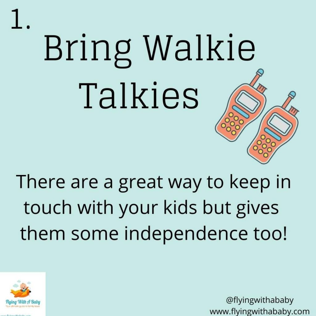 bring walkie talkies - hacks tips for camping with kids