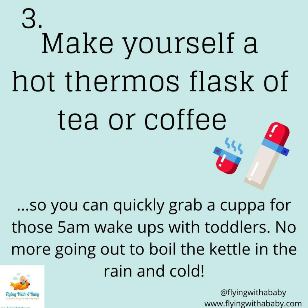 hacks tips for camping with kids thermos flask