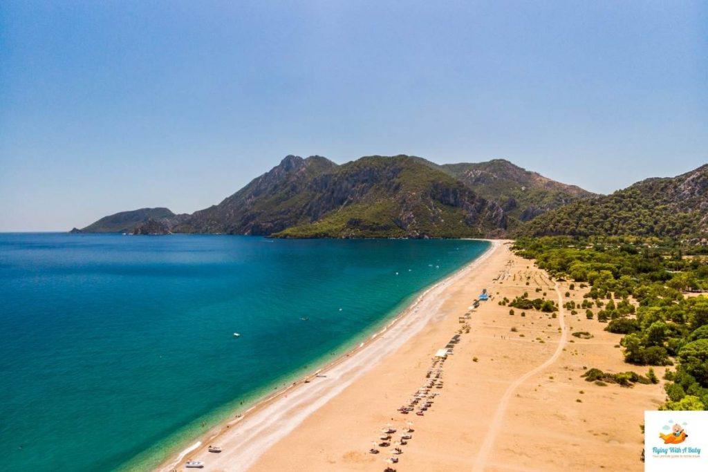 Çıralı Beach Turkey, home to a turtle nesting site and Olympus Lodge
