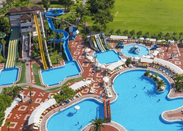 Turan Prince World hotel has plenty of waterslides.