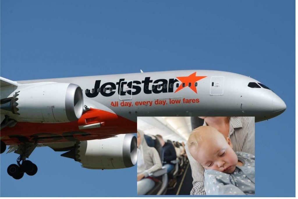 flying with a baby on Jetstar