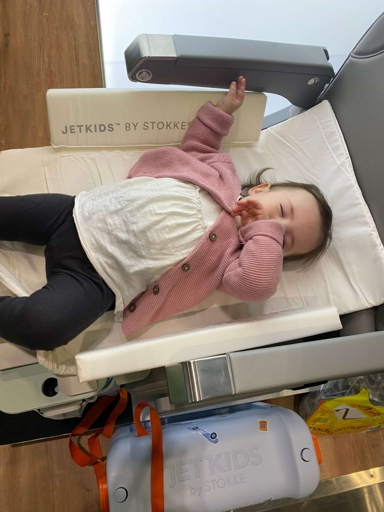 jetkids stokke bedbox is a great options to helps toddler sleep on a plane