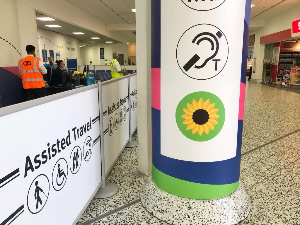 airport sunflower for hidden disabilities