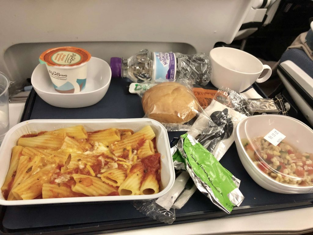 BA Child meal pasta and tomato sauce