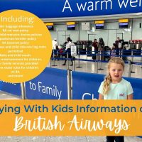 Flying with kids information for BA