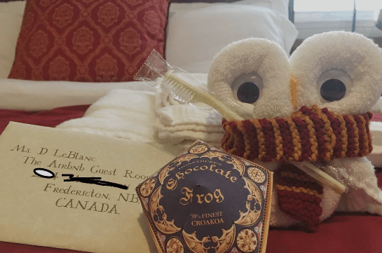 Harry Potter themed room in Canada