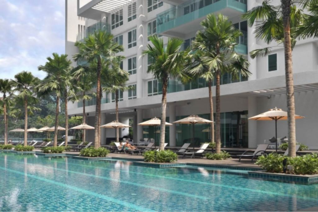 Lanson Place serviced apartments in Bukit Ceylon. with swimming pool  Kuala Lumpur with kids