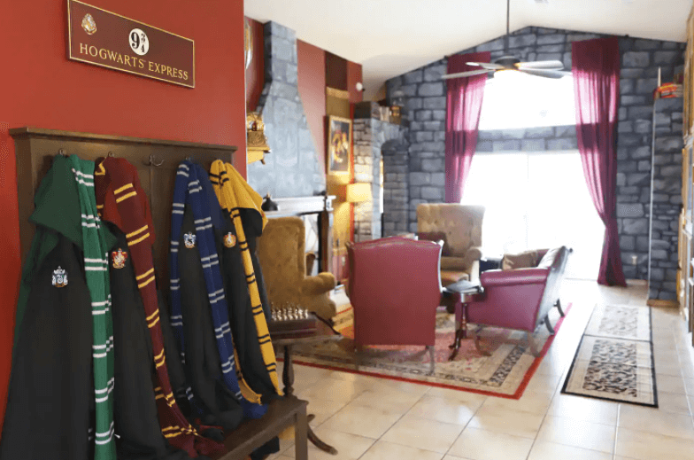 Wizarding Home, Image courtesy of Airbnb, Harry Potter Themed Places To Stay Around The World
