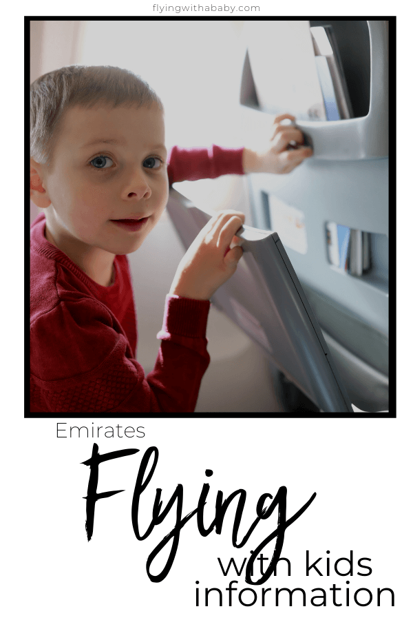 Emirates Flying with kids information