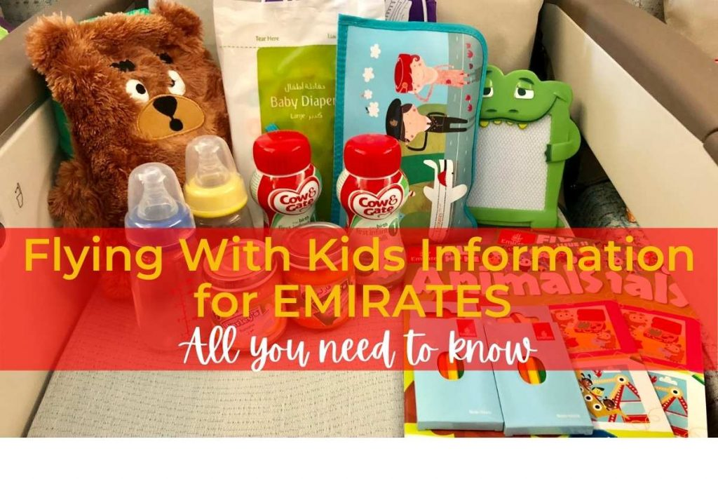 Flying with kids on Emirates information