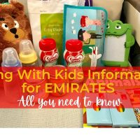 Flying with kids on Emirates information.