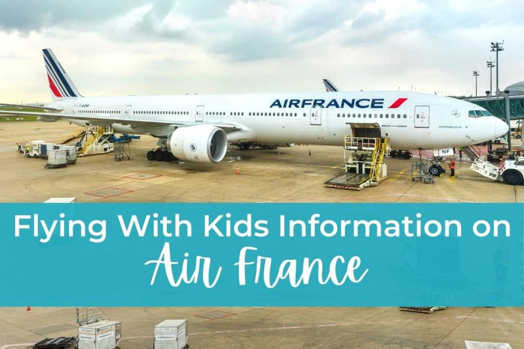 Flying With Kids Information Air France