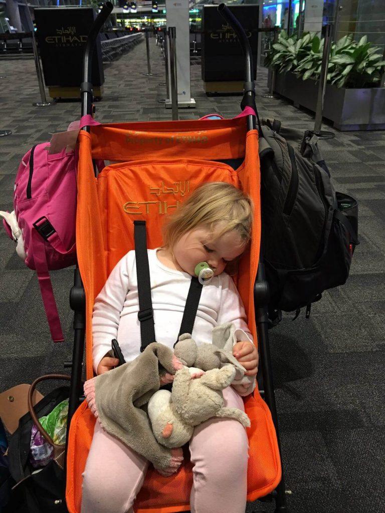 Etihad airport stroller, Etihad Airways Flying With Kids