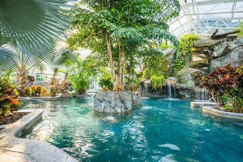 Grand Cascades Lodge indoor pool, one of the Best Indoor Hotel Pools For Kids In The USA