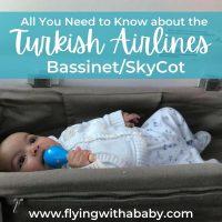 Turkish Airlines bassinet